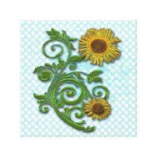 Yellow floral design canvas prints