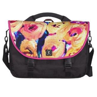 Yellow Floral Design Products Laptop Messenger Bag