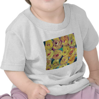 Yellow Floral Design Products T Shirts