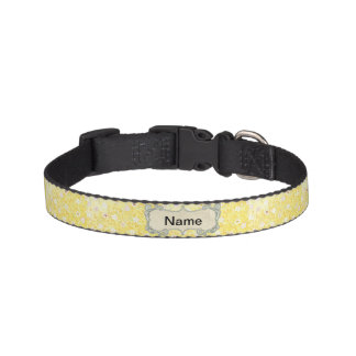 Yellow Floral Dog Collar