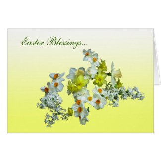 Yellow Floral Easter Card