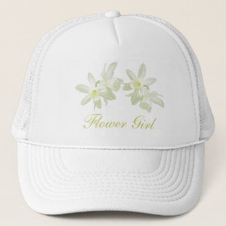 Yellow Floral Flower Girl Hat