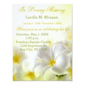 Yellow Floral | Funeral | Memorial Service Card  Memorial Service Invitation Sample