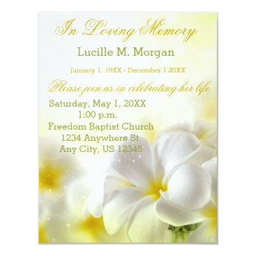 DesignedwithTLC Yellow Floral | Funeral | Memorial Service Card