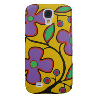 Yellow Floral Galaxy S4 Cases