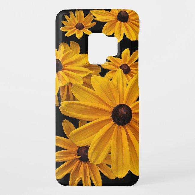 Yellow Floral Garden Flowers Galaxy S9 Case
