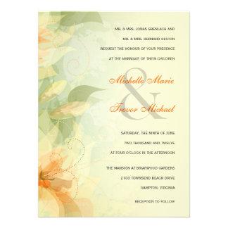Yellow Floral Garden Wedding Invitations