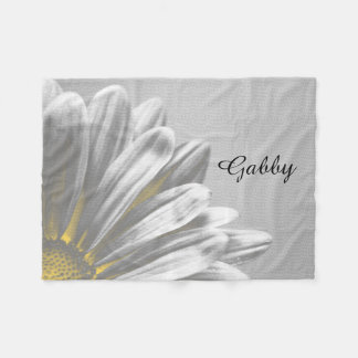 Yellow Floral Highlights Fleece Blanket