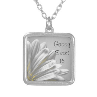 Yellow Floral Highlights Sweet 16 Necklace