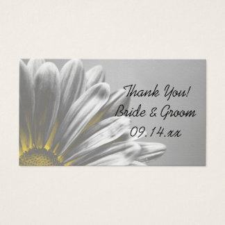 Yellow Floral Highlights Wedding Favor Tags