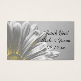 Yellow Floral Highlights Wedding Favor Tags Business Card