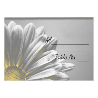 Yellow Floral Highlights Wedding Place Card Large Business Cards (Pack Of 100)