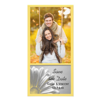 Yellow Floral Highlights Wedding Save the Date Card