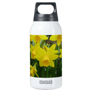 Yellow Floral Insulated Water Bottle
