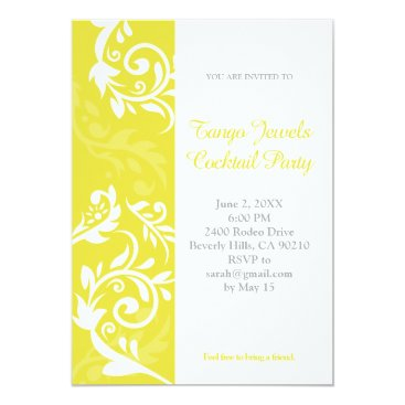 Professional Business Yellow Floral Invitation
