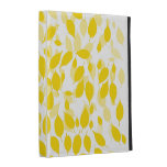 Yellow floral iPad case