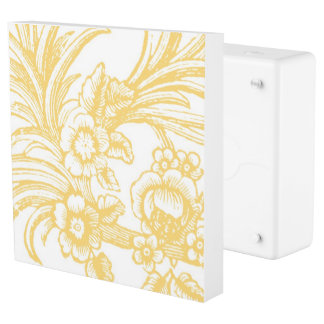 Yellow floral LivingPlug INLET + Faceplate Outlet Cover