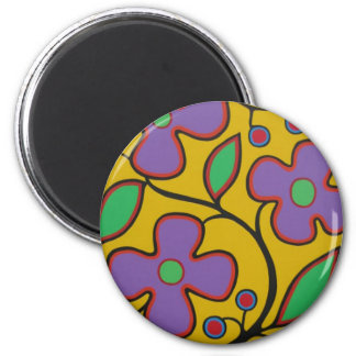 Yellow Floral Magnet