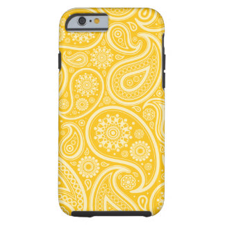Yellow Floral Paisley Pattern Tough iPhone 6 Case