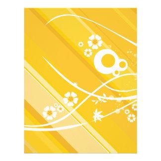 Yellow Floral Pattern Letterhead