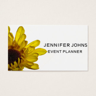Yellow Floral Patterns Chrysanthemum Flower White Business Card