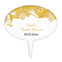 yellow floral Personalized Cake Picks