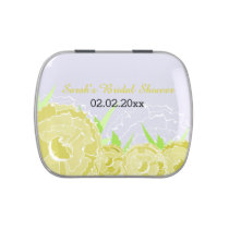 yellow floral personalized candy tins