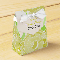 yellow floral personalized favor boxes
