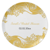 yellow floral Personalized Plate