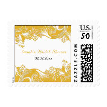 yellow floral Personalized Stamps