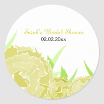 yellow floral Personalized stickers