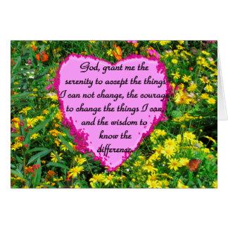 YELLOW FLORAL SERENITY PRAYER PHOTO CARD