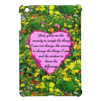 YELLOW FLORAL SERENITY PRAYER PHOTO COVER FOR THE iPad MINI