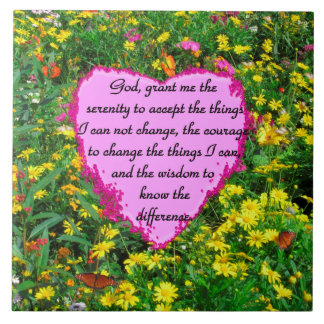 YELLOW FLORAL SERENITY PRAYER PHOTO TILE