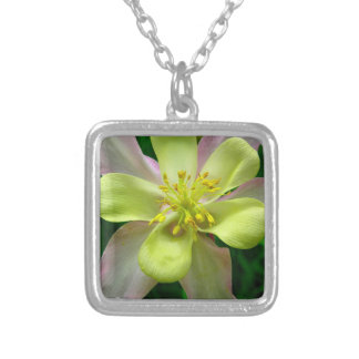 Yellow Floral Silver Plated Necklace