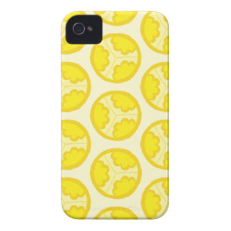Yellow floral spheres iPhone 4 Case-Mate case