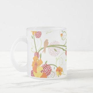 Yellow Floral Swallows Gift / Favor / Mug