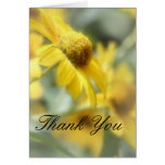 Yellow Floral Thank You Note Cards