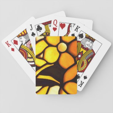 McTiffany Tiffany Aqua Yellow Floral Tiffany Look Playing Cards
