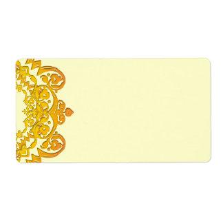 Yellow Floral Vintage Art Large Labels