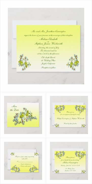 Yellow Floral Wedding Collection