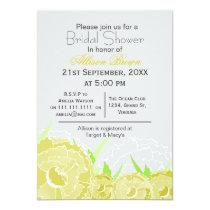 yellow florals spring Bridal shower Card