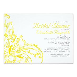 Yellow Flourish Bridal Shower Invitations