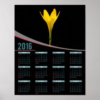 Yellow flower 2016 poster calendar