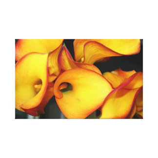 Yellow Flower Abstract Pattern Canvas Print