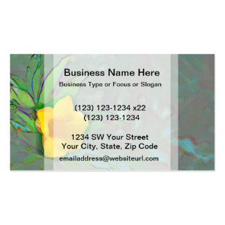 yellow flower abstract swirls business card