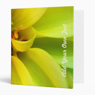 Yellow Flower (add your own text) Binder