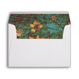 Yellow flower against leaf camouflage pattern 2 envelope