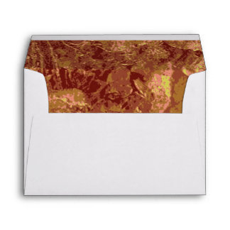 Yellow flower against leaf camouflage pattern envelope
