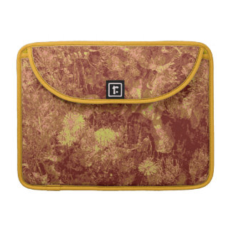 Yellow flower against leaf camouflage pattern MacBook pro sleeve
